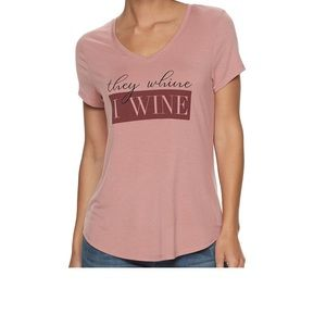They wine I wine graphic tee NWT size large